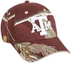 Outdoor Cap Texas A&m College Realtree Cap Outdoor Cap. $12.99. Cotton/Polyester Twill. Adjustable D-FitTM Closure. Realtree APCTM/Maroon. One size Fits Most. 6 panel structure