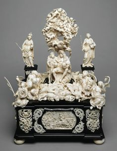 Ivory Apotheosis of Emperor Leopold I by Christoph Maucher in Gdańsk, 1700, Kunsthistorisches Museum