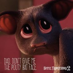 I thought Mavis was the only one giving the pouty bat face! - In theaters September Hotel Transylvania 2 2015, Sony Pictures Entertainment, Count Dracula, Httyd 3, Animation Movies, Family Movies, Movies Showing, Bats, Dreamworks