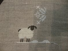 Cross stitch sheep  Possibly to use with other ideas