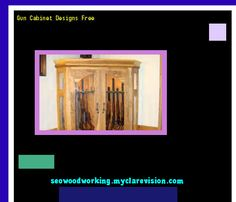 Gun Cabinet Designs Free 075702 - Woodworking Plans and Projects!