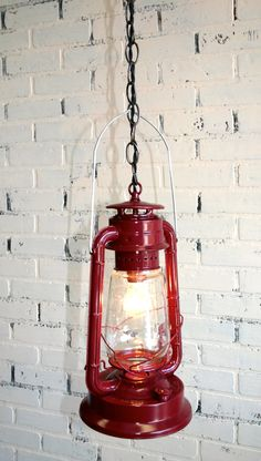 $48 Repurposed Dietz Lantern Hanging Light Vintage by JKnoxDesigns