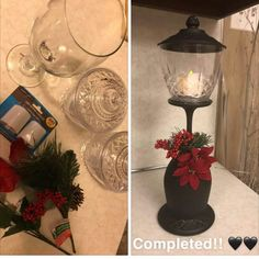 Dollar Tree Christmas, Dollar Tree Crafts, Holiday Crafts, Christmas Holidays, Christmas Ideas, Homemade Christmas Gifts, Xmas Decorations, Wine Glass, Farmhouse