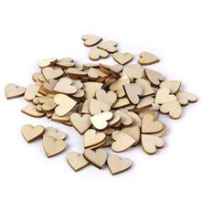 50pcs 40mm Blank Heart Wood Slices Discs for DIY Crafts Embellishments Crafts Supplies Laser Cut Rustic Wood Wedding Ornaments(China (Mainland))