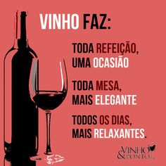 vinhos Just Wine, Agaves, Wines, Red Wine, Alcoholic Drinks, Poems, Good Things, Lettering, Humor