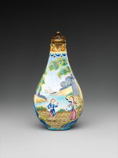 Snuff bottle with European figures | China | Qing dynasty (1644–1911), Qianlong…