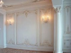 """These are called """"boiserie onlays""""! Interior Wall Colors, Interior Design, Wall Panel Design, French Walls, Wall Trim, Wall Molding, Moldings And Trim, Classic Interior, Luxury Decor"""