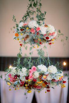 Floral chandelier!