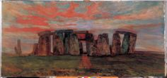 The Society has several objects on loan to the first temporary exhibition at the new Stonehenge Visitor Centre, 'Set in Stone? How Our Ancestors Saw Stonehenge'. Unfortunately, this painting (in the Society's collection) is not one of the objects on loan.