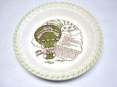 & Vintage Recipe Pie Plate - Strawberry Pie | Pie plate Vintage and Etsy