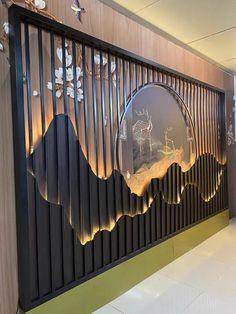 Deco Restaurant, Restaurant Interior Design, Office Interior Design, Interior Walls, Interior Decorating, Wall Panel Design, Wall Decor Design, Wall Partition Design, Ceiling Design