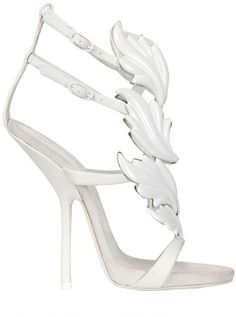 b8cb3a2766cd Giuseppe Zanotti - White 130mm Cruel Leaves Leather Sandals - Lyst