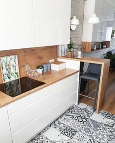 There is no question that designing a new kitchen layout for a large kitchen is much easier than for a small kitchen. A large kitchen provides a designer with adequate space to incorporate many convenient kitchen accessories such as wall ovens, raised. Apartment Kitchen, Home Decor Kitchen, Interior Design Kitchen, New Kitchen, Kitchen Ideas, Awesome Kitchen, Kitchen Furniture, Wood Furniture, Ikea Small Kitchen
