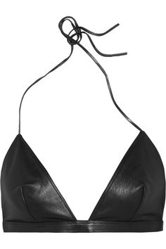 Saint Laurent leather black bra