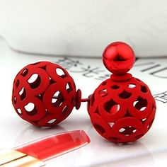 Bele Fashion Jewelry Hollow Out Charming Double-faced Ball Beads Plug Stud Earrings (red) Bele http://www.amazon.com/dp/B00YXQ560G/ref=cm_sw_r_pi_dp_j.cswb0F0CR7S