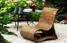Holz Stuhl bringt exotischen Hauch aus fernen Inseln