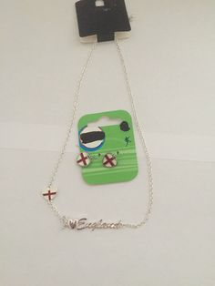 England Necklace & Earring Set