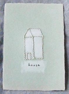 Embroider your holiday card to add a personal touch. Choose card stock paper and keep the colors to a minimum.