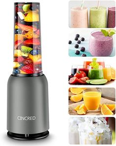 Amazon.com: [Updated 2020 Version] Personal Countertop Blender for Milkshake, Fruit Vegetables Drinks, Smoothie, Small Mini Portable Food Blenders Processor Shake Mixer Maker with with 1 * 400ML Travel Cup: Kitchen & Dining Mini Blender, Portable Blender, Portable Food, Blender Bullet, Fruit Smoothies, Fruit Juicer, Smoothie Makers, Smoothie Blender, Milk Shakes