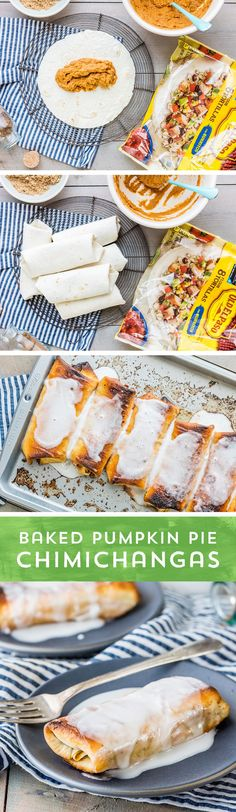 Thanksgiving's favorite dessert just got an upgrade! These Baked Pumpkin Pie Chimichangas from @beckygallhardin are the perfect sweet treat to steal the show on this year's Thanksgiving table or dinner table! This simple recipe is full of the flavors you love, and is ready to eat in just 30 minutes!