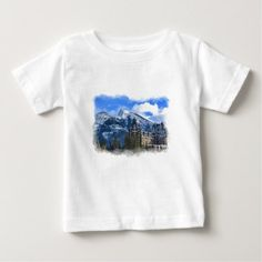 Mr Rundle and Hotel Banff Alta Canada Baby T-Shirt -nature diy customize sprecial design