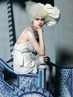 China White I Vogue UK I March 2010 I Model: Sasha Pivovarova I Photographer: Tim Walker I Editor: Kate Phelan.