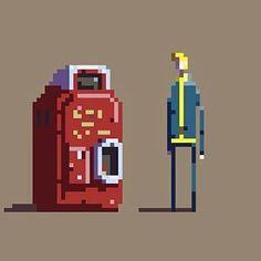 #VaultBoy for @Pixel_Dailies #pixelart #pixel_dailies @aseprite #Fallout4 #pixel #nukacola ...