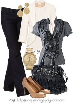 """Ruffled Blouse"" by uniqueimage on Polyvore"