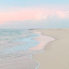 from This desert beach is a pastel dream come true. The sound of the crashing waves the immense sand the shades that touch the water and the sand are always a great inspiration says photographer Ana Marques ( Photo by Beach Pictures, Nature Pictures, Art Heaven, Home Bild, Desert Aesthetic, Wave Illustration, Image Nature, Ocean Wallpaper, The Beach