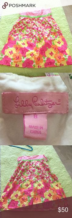 Lilly Pulitzer dress Beautiful vintage Lilly dress worn once. Like new condition. Lilly Pulitzer Dresses Strapless