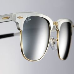 Ray-Ban Clubmaster Aluminum #Aluminium, #Cool, #Fashionable, #Sleek, #Style, #Sunglasses