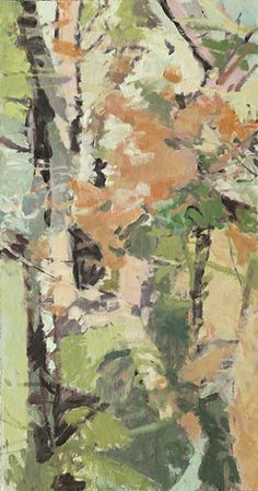 The Woods 4 2013 oil on canvas 72 x 42 inches