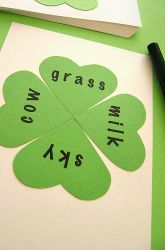 Play a #StPatricksDay word #game with your child to work on color recognition the fun way! #educational #shamrocks #kids #fourleafclover