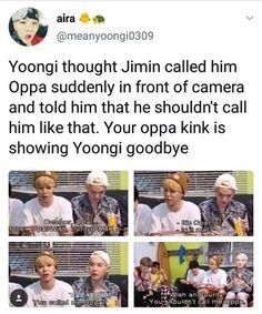 Jimin calling Yoongi oppa