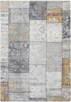Vloerkleed 160 x 230 cm (wilton) - Ghazal Patchwork (geel) Quilts, Rugs, Home Decor, Scrappy Quilts, Farmhouse Rugs, Decoration Home, Room Decor, Quilt Sets, Log Cabin Quilts