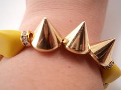 Yellow Neon Spike Bracelet by JulieHoltz on Etsy, $30.00