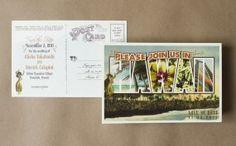 Vintage Large Letter Postcard Save the Date (Hawaii)