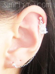 Items similar to Sterling Silver Single Owl Cartilage Double Piercing on Etsy Second Piercing, Double Tongue Piercing, Double Cartilage Piercing, Tongue Rings, Nose Rings, Ear Piercings Cartilage, Dermal Piercing, Tongue Piercings, Peircings
