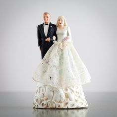 Vintage Wedding Cake Topper  1940s - Blonde Bride on Etsy, $95.00