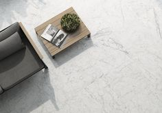 A 600x600 or 1200x600 Rectified Matt White Marble Look Glazed Porcelain Tile
