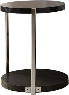 Monarch Specialties I 3005 Cappuccino / Chrome Metal Accent Table