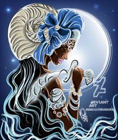 Iemanja Soba by OradiaNCPorciuncula on DeviantArt African American Art, African Art, Yemaya Orisha, African Mythology, Arte Black, Black Love Art, Black Goddess, Illusion Art, Gods And Goddesses