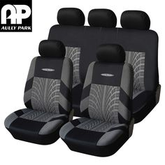 AULLY PARK Car Seat Cover Polyester Fabric Universal Car-Covers Car Styling Covers For Car Seats Protector Interior Accessories