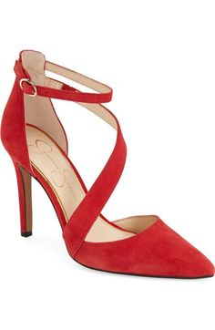 Jessica Simpson  Castana  Pointy Toe Pump (Women) Red Pumps b8d8749fef2c