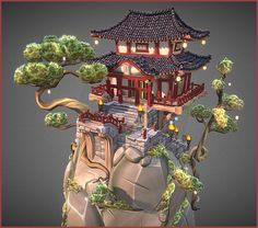 Chinese Old Place by Christophe Degraeve - 3D model - Sketchfab