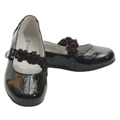 L'Amour black patent special occasion shoes are simply perfect for your toddler…