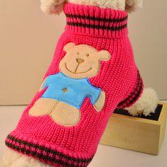 2015 suéter del perro pet warm knitting crochet ropa para mascotas ropa para perros chihuahua dachshund pitbull envío gratis