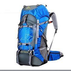Paquetes de Mochilas de Camping / Travel Duffel ( Verde / Rojo / Azul , 60 L) Impermeable / A prueba de lluvia / A Prueba de Humedad / A – USD $ 34.99