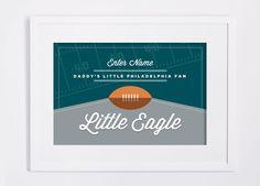 Philadelphia Eagles Print. Custom NFL Children's Room or Nursery DIY Custom Design Print