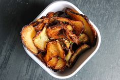 Zesty Turnip Chips - Predominantly Paleo1 large turnip, cleaned and peeled Seasoning of your choice: I used garlic sea salt on one batch and cajun seasoning (omit for aip) on another Avocado oil for frying